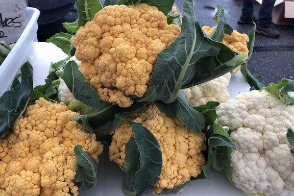 Farmers market cauliflower. (Photo by: Julia O'Malley/ADN)