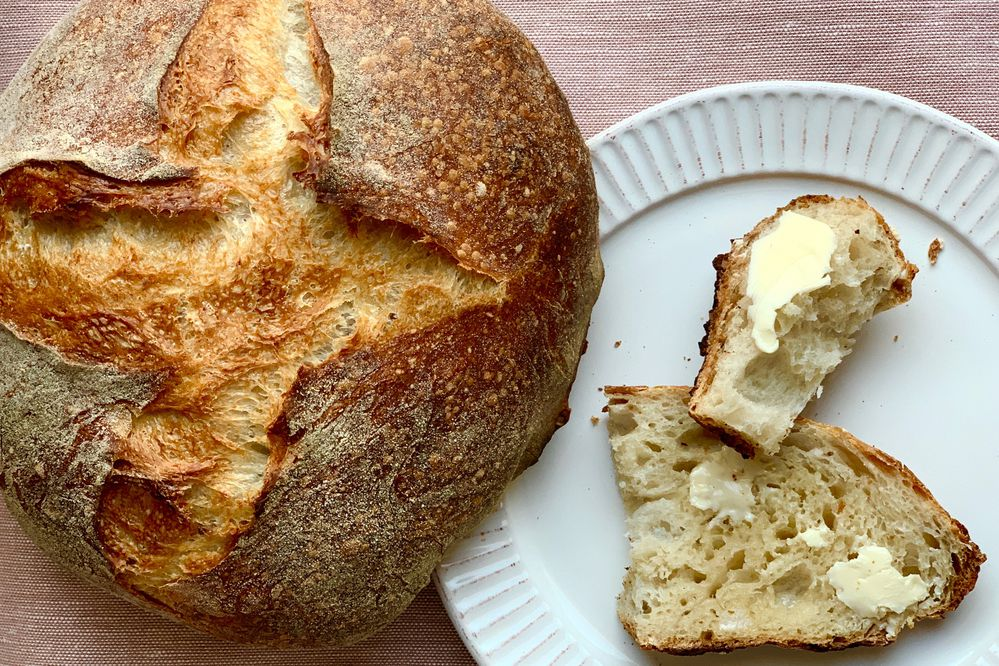 Beau Schooler's basic sourdough bread (Photo by Julia O'Malley)