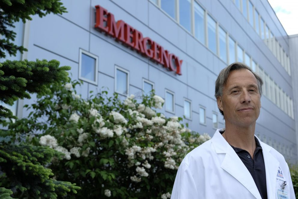 Dr. Daniel Safranek is the medical director of the emergency department, which includes the psychiatric emergency department at Providence Alaska Medical Center. Photographed on Tuesday, June 7, 2016. (Marc Lester / Alaska Dispatch News)