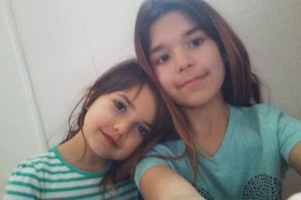 Sofia Flores and Alexis Quackenbush are seen in a recent selfie shared by their grandmother on Sept. 12, 2017. It was taken not long before a Sept. 7 fire that killed them and their sisters. (Courtesy Susan Secco)
