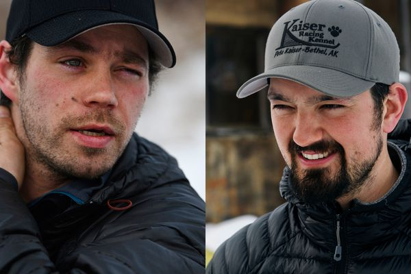 Joar Leifseth Ulsom and Peter Kaiser are in a tight race for winning the 2019 Iditarod. (Marc Lester / ADN)