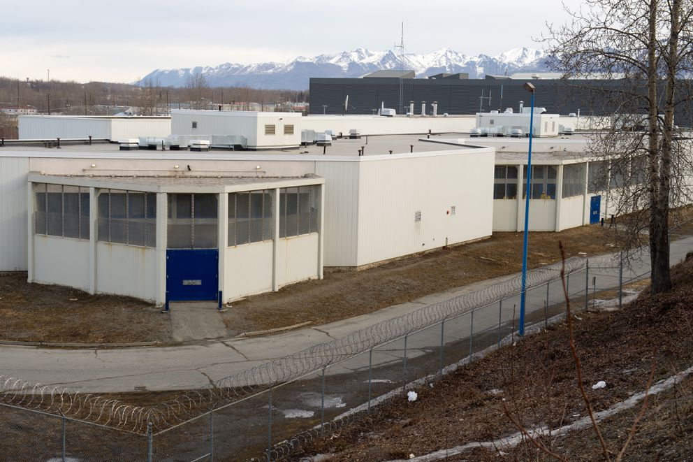 A view of the Cook Inlet Pre-Trial facility from the bluff along 5th Avenue on Friday, March 27, 2015.