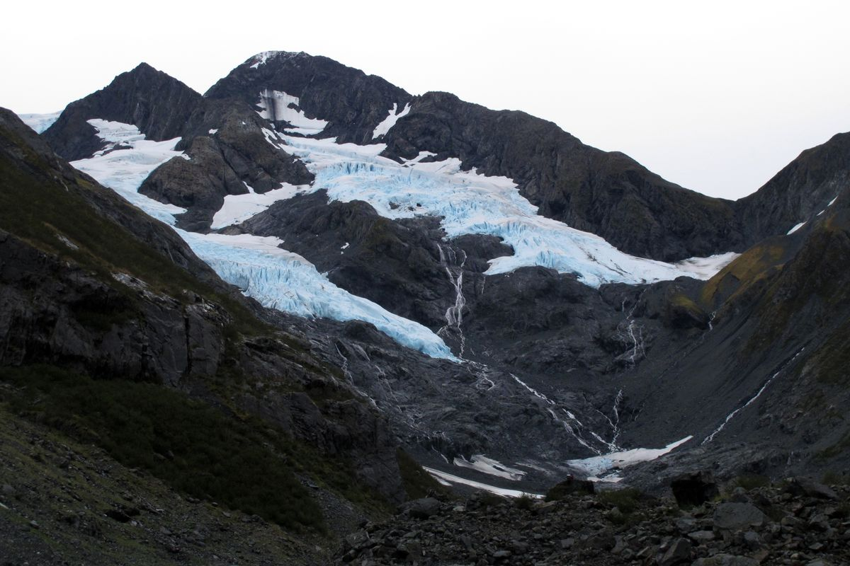 Byron Glacier on September 17, 2017, in Portage Valley. (Erik Hill / Anchorage Daily News)