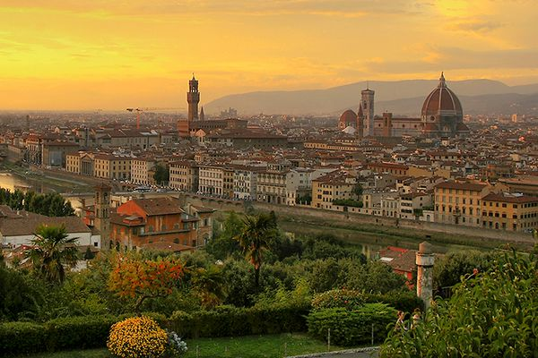 A view of Florence, Italy, at sunset. (Steve Hersey via Wikimedia Commons)