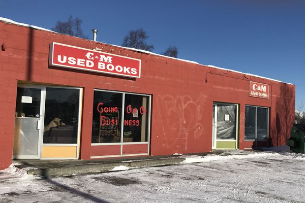 C & M Used Books at 215 E Fourth Ave. in Anchorage on Feb. 22, 2019. (Annie Zak / ADN)