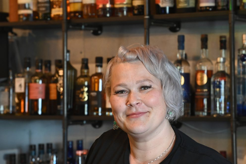 Adrianne Foltz is manager/owner of The Broken Blender, a craft cocktail bar that serves affordable food and drinks at 535 West Third Avenue across from the Hilton Anchorage on Tuesday, May 18, 2021. (Bill Roth / ADN)