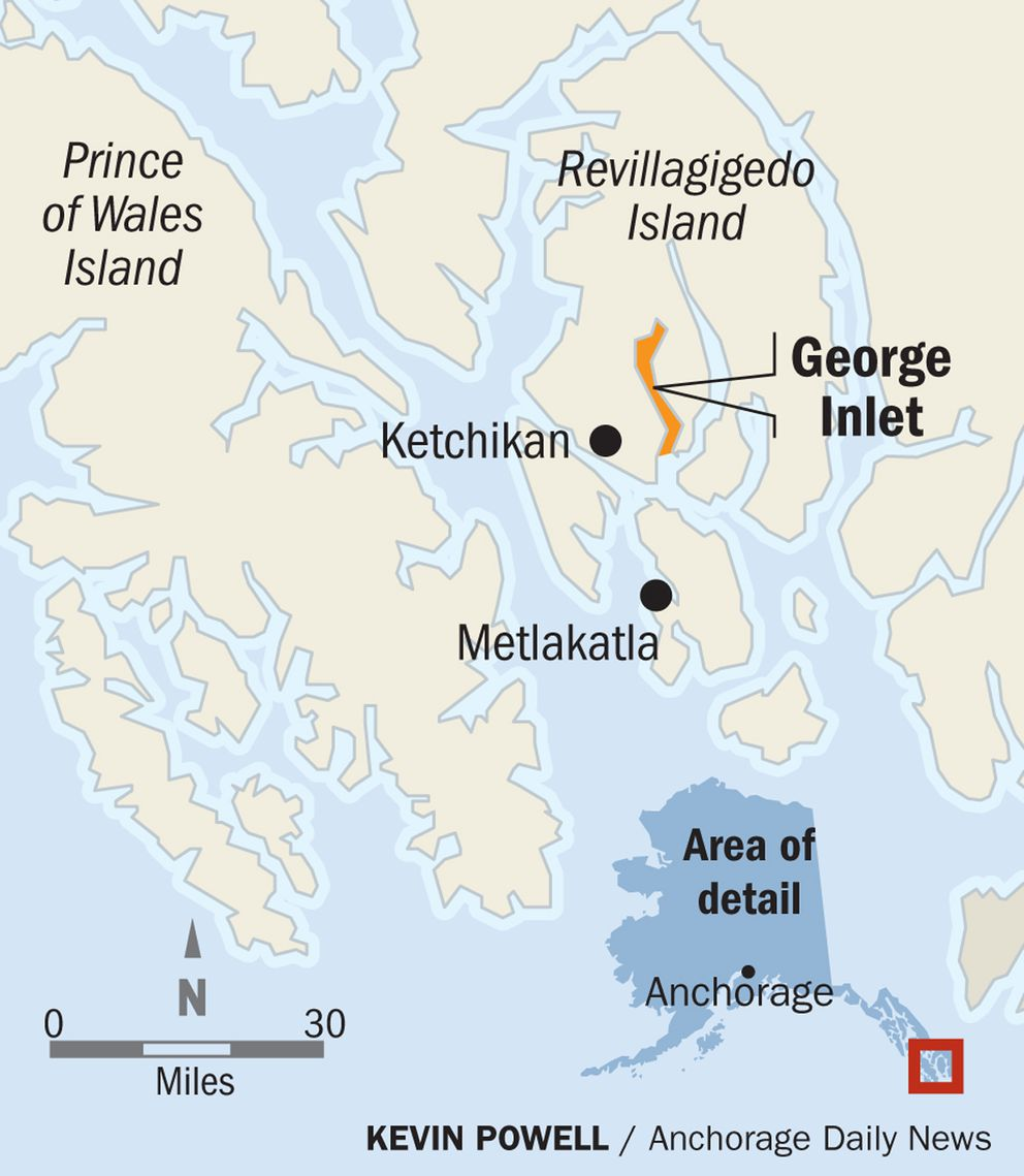 Map of George Inlet