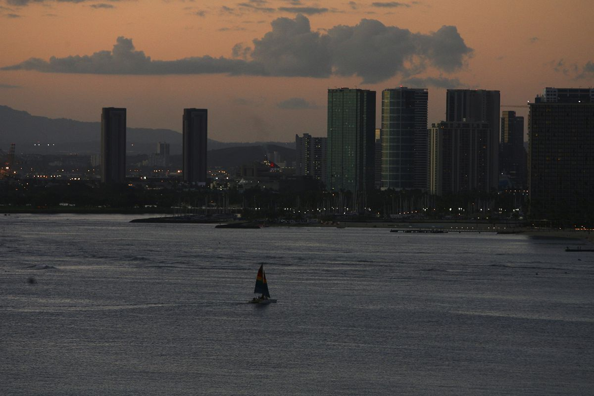 Dusk in Honolulu, Hawaii, Feb. 12, 2007. (Jim Wilson/The New York Times file)