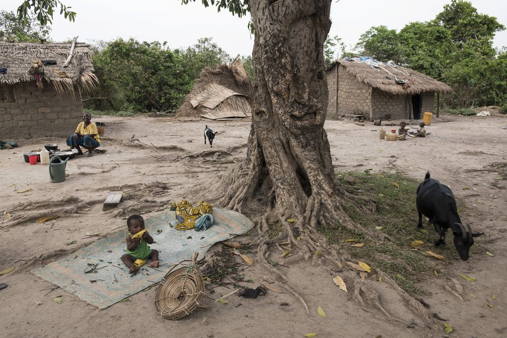 The farming village of Bombali, Central African Republic, March 11, 2018. The Central African Republic is arguably the capital of human misery, yet the United Nations says that its humanitarian plan for the country is only 2 percent funded. (Lynsey Addario/The New York Times)
