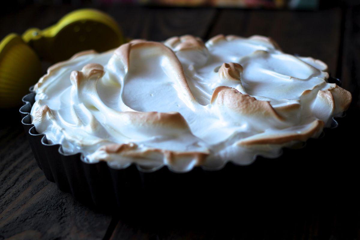 Lemon meringue pie with shortbread crust(Maya Wilson / Alaska from Scratch)