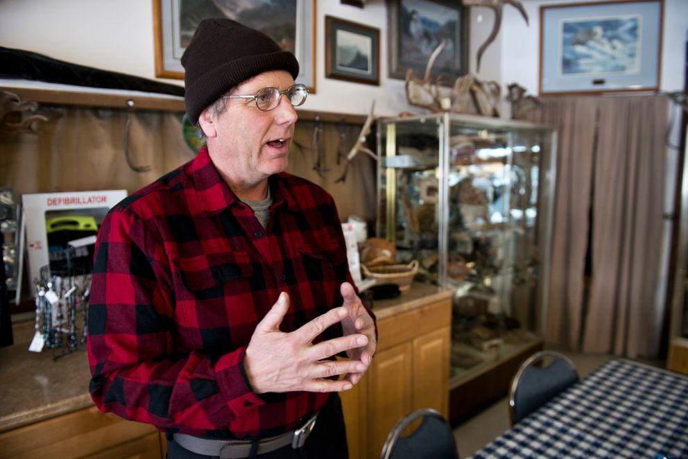 Bill Stevenson is a longtime guide and caretaker at Matanuska Glacier Park.  (Marc Lester / Alaska Dispatch News)