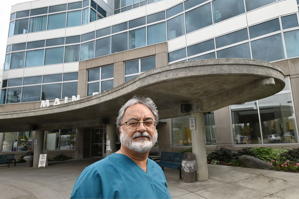 Harbir Makin, M.D., an internal medicine specialist at Providence Alaska Medical Center on Monday, June 22, 2020. Dr. Makin said people are not coming in for checkups because of COVID-19. (Bill Roth / ADN)