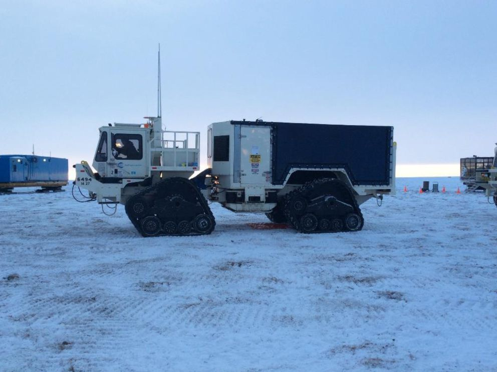 This is an example of the kind of rubber-tracked equipment SAExploration plans to use for its seismic work over two consecutive winter seasons in the Arctic National Wildlife Refuge. (Courtesy SAExploration via Bureau of Land Management)