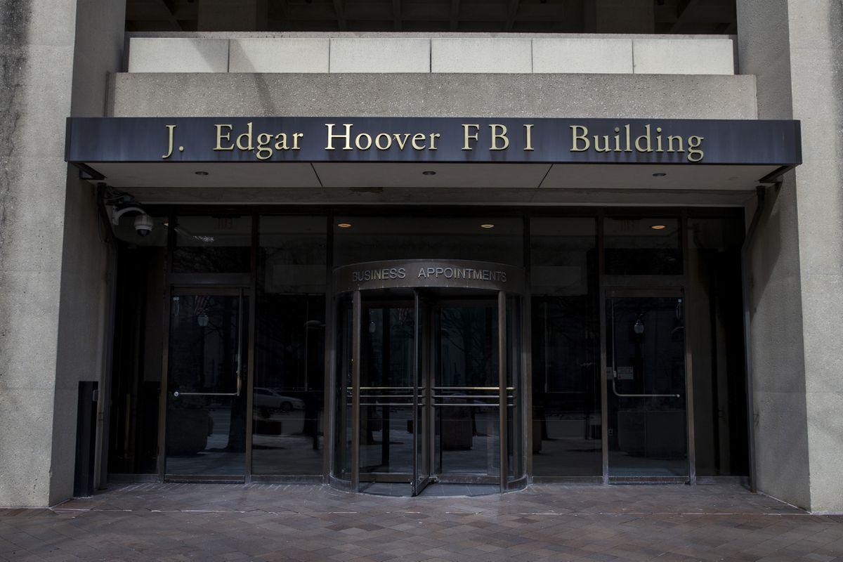 The J. Edgar Hoover FBI Building on Monday, March 4, 2019, in Washington. (AP Photo/Alex Brandon)