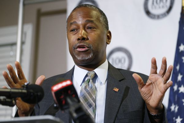Pictured: Republican presidential candidate Ben Carson speaks in Lakewood, Colo. Oct. 29, 2015