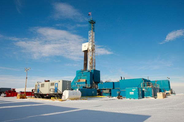 The Kuukpik 5 drilling rig would be used for drilling at Nuiqsut, if the proposed ConocoPhillips project happens in Jan 2018. (Judy Patrick Photography)