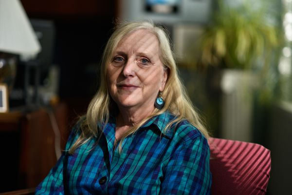 Anchorage psychiatrist Merijeanne Moore said she was told by Medicare that she must change her name rather than use two to be paid. Photographed on September 11, 2018. (Marc Lester / ADN)