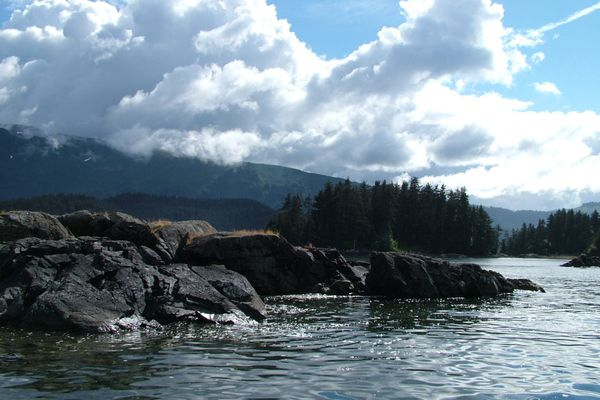 A view of the Herring Islands in Kachemak Bay, 2010. (Charles Wohlforth / ADN)