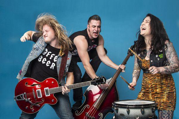 Jeremy Larson, Nathan Harris and Barbie Keller are The Avery Wolves (O'Hara Shipe / Shipe Shots)