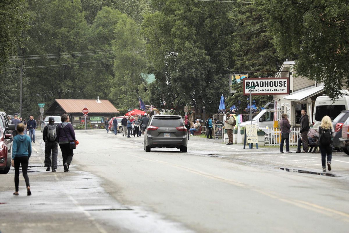 Main Street in Talkeetna Monday, Aug. 6, 2018. (Loren Holmes / ADN)