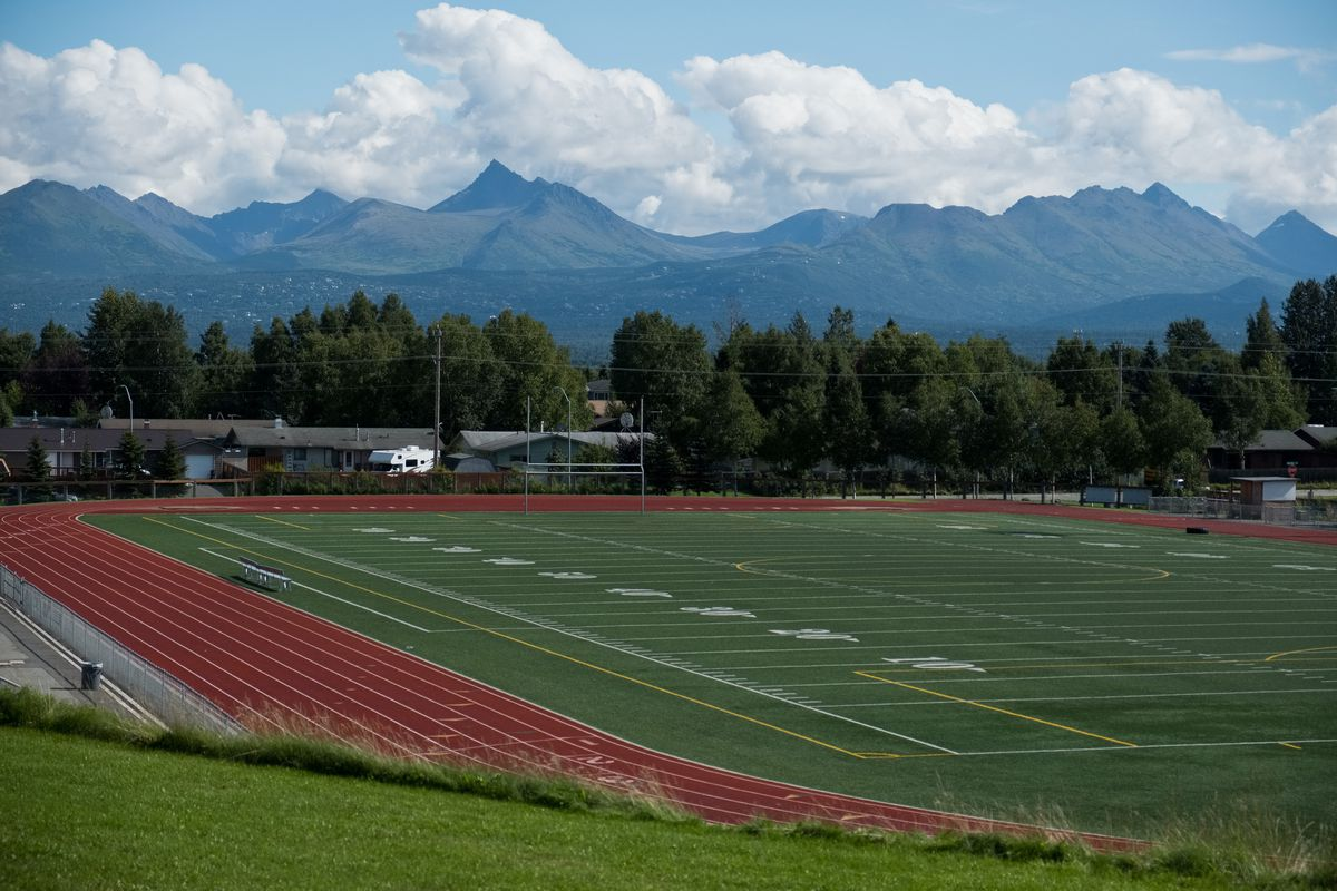Dimond High School's football field, photographed August 22, 2018. (Marc Lester / ADN)