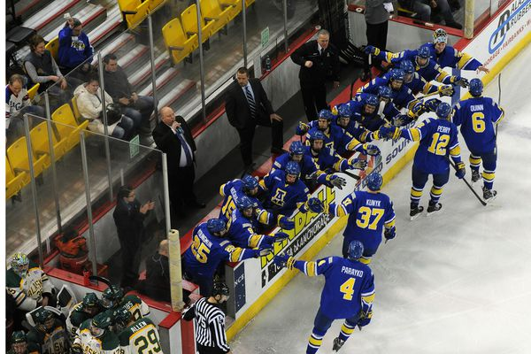 UAA Vs. UAF in Governor's Cup hockey on Saturday, December 7, 2013 at the Sullivan Arena.