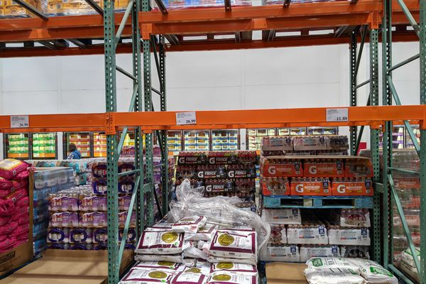 Rice is in short supply at Costco in Anchorage, March 4, 2020. (Michelle Theriault Boots / ADN)