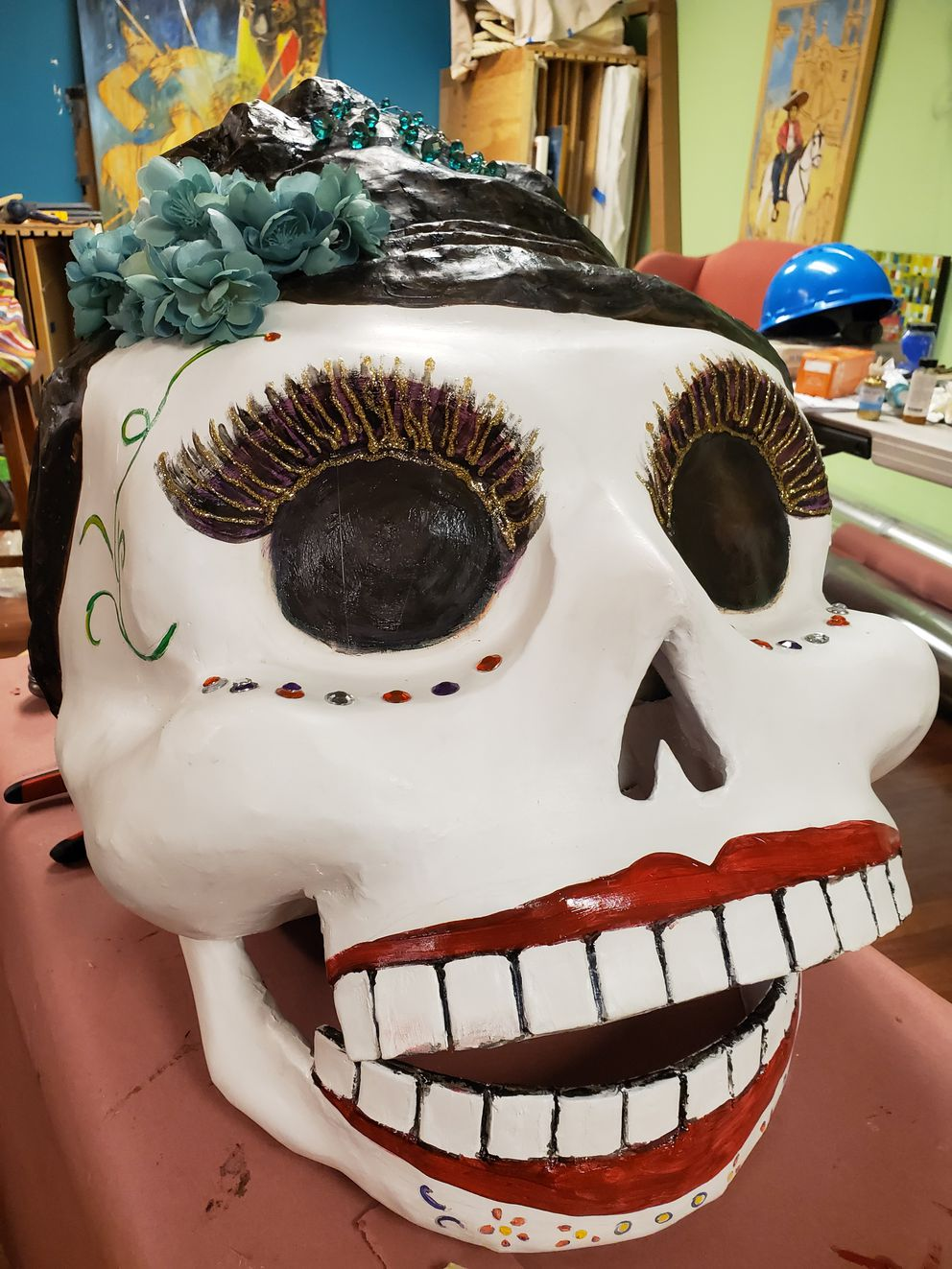 'Agripina ' is the new Catrina that will be debuting at the Día de Muertos procession in Anchorage Nov. 2. (Photo by Indra Arriaga)