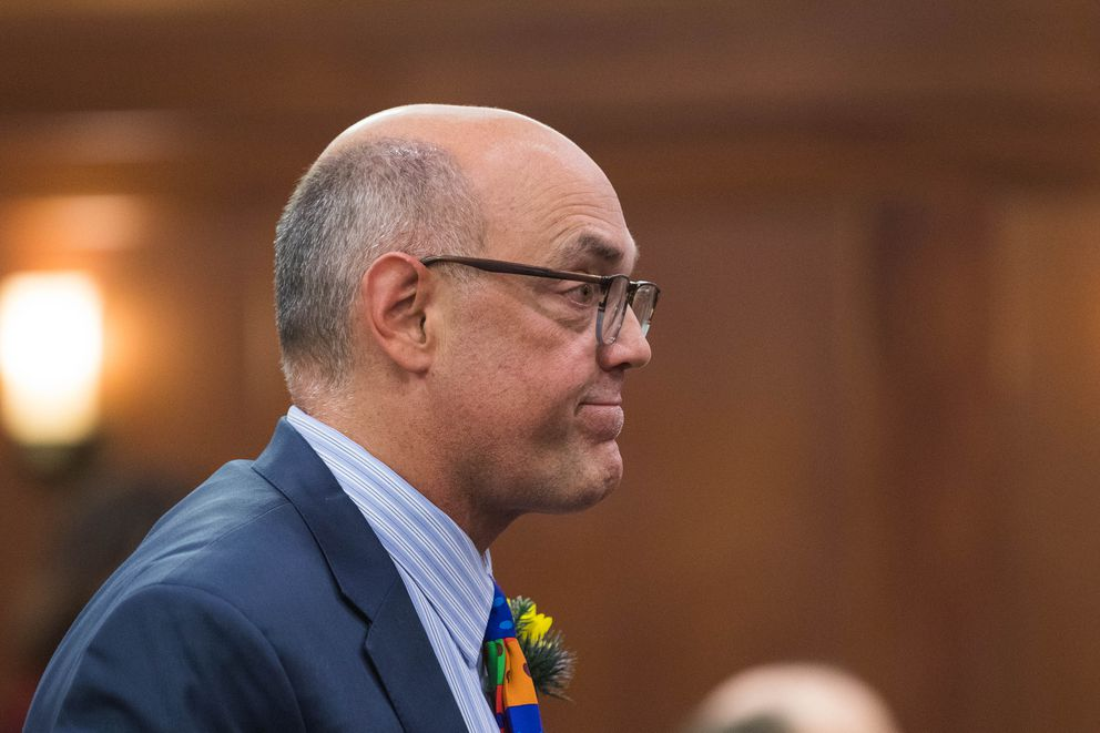 Rep. Andy Josephson, D-Anchorage, on the first day of the legislative session on Tuesday, Jan. 15, 2019 at the Alaska State Capitol in Juneau. (Loren Holmes / ADN)