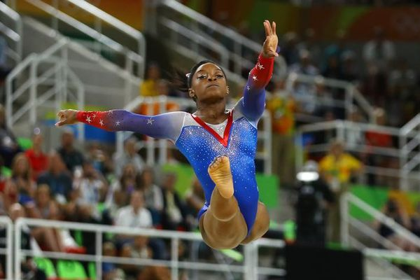 2016 Rio Olympics - Artistic Gymnastics - Final - Women's Floor Final - Rio Olympic Arena - Rio de Janeiro, Brazil - 16/08/2016. Simone Biles (USA) of USA competes. REUTERS/Mike Blake Picture Supplied by Action Images