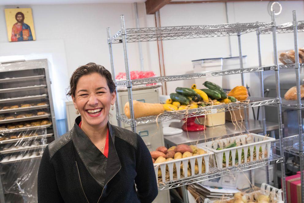 Bambino's Baby Food owner Zoi Maroudas-Tziolas in the store's kitchen last week. (Loren Holmes / Alaska Dispatch News)