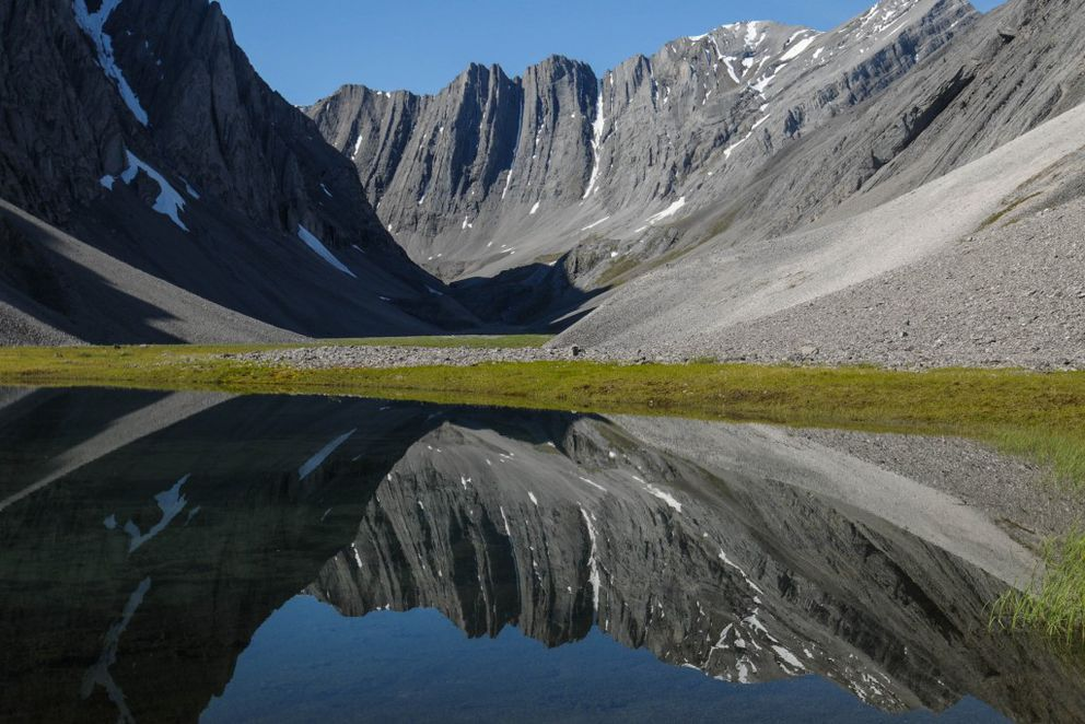 Small tarn in a hidden valley in the Itkillik Preserve, sometimes called the Yosemite of the Arctic. Gates of the Arctic National Park and Preserve. July 2014. (Photo courtesy National Park Service)