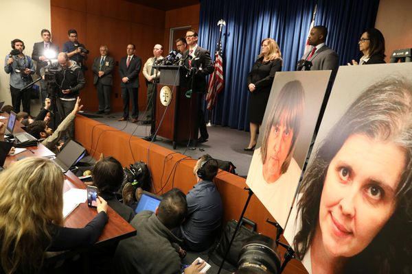 Riverside County District Attorney Mike Hestrin announces charges against David Turpin and Louise Turpin in Riverside, California U.S. January 18, 2018. REUTERS/Lucy Nicholson