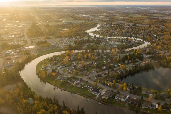 The Chena River in Fairbanks on September 8, 2015.
