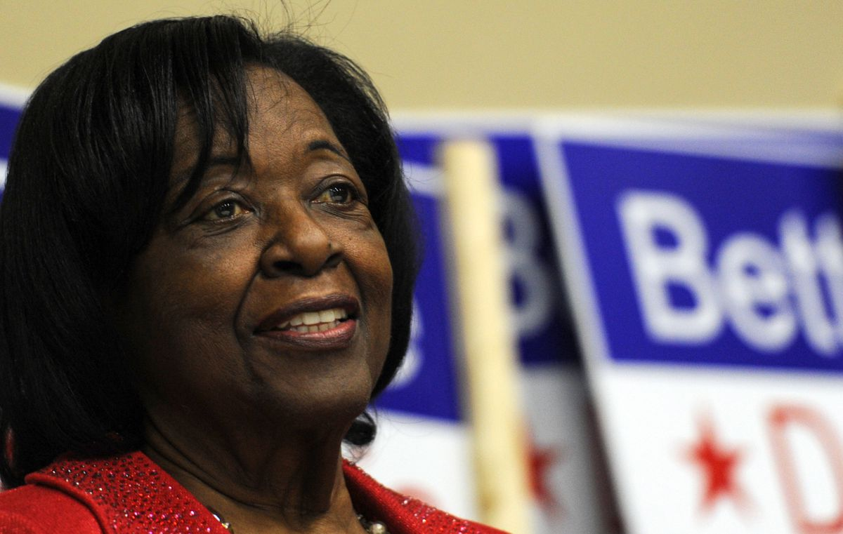 Bettye Davis at an election event in 2013. There is now an effort to name an Anchorage school after Davis. (Erik Hill / ADN)
