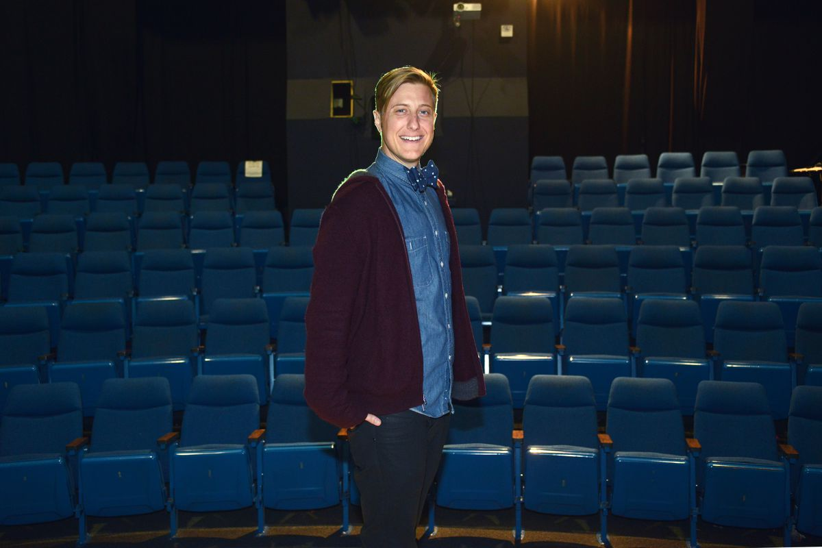 "Former Out North artistic director Scott Turner Schofield returns to Anchorage to present his show, ""Becoming a Man in 127 Easy Steps,"" on Saturday evening, July 1, 2017, at the Alaska Experience Theatre downtown. (Erik Hill / Alaska Dispatch News)"
