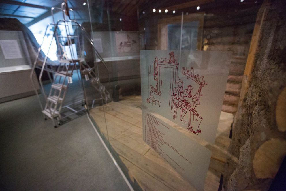 An empty diorama in the Alaska Gallery at the Anchorage Museum. (Loren Holmes / Alaska Dispatch News)