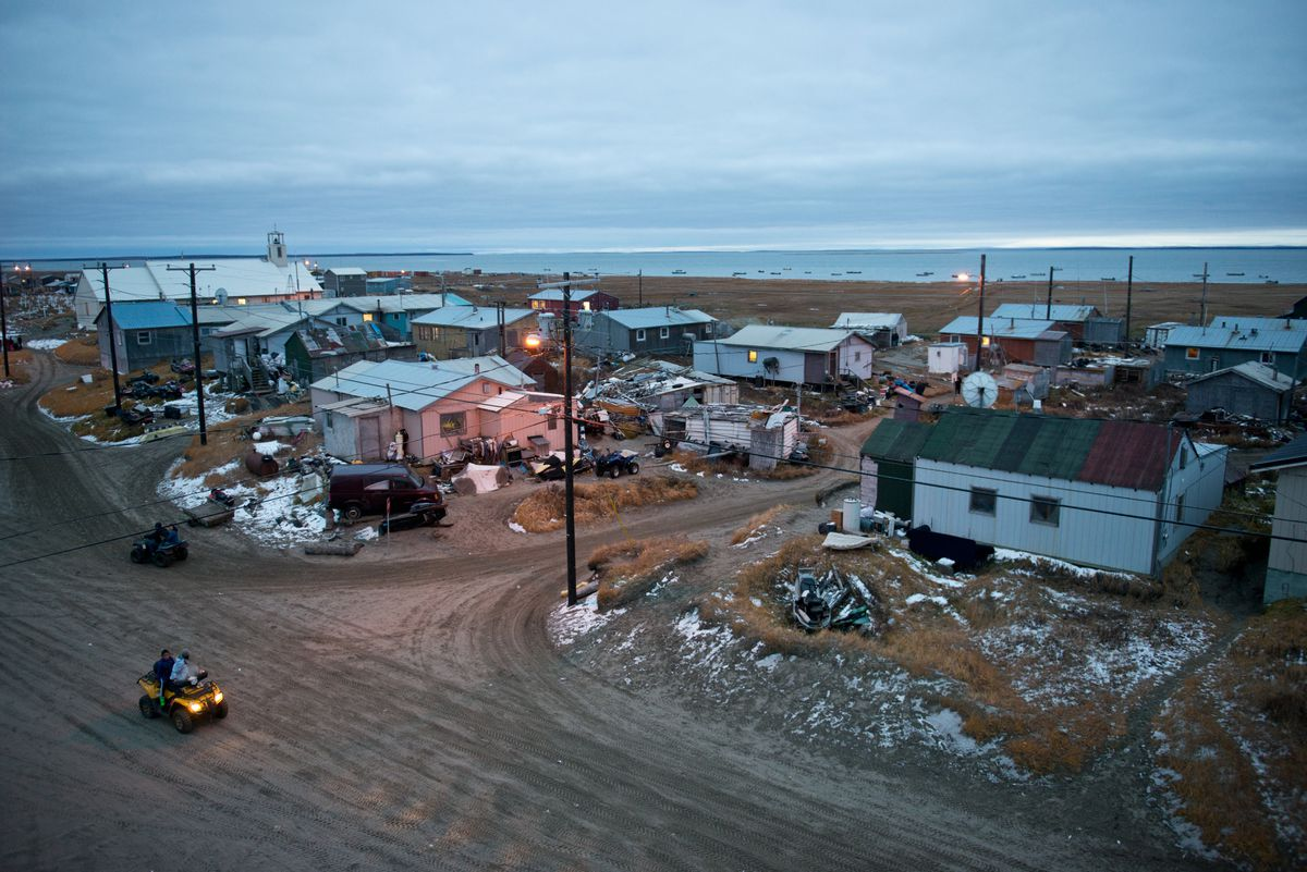 Shishmaref, on a barrier island on the Chukchi Sea coast in northwest Alaska, is a village of less than 600 residents. (Marc Lester / ADN archive 2013)