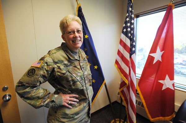 Maj. Gen. Laurie Hummel is the adjutant general of the Alaska National Guard and the commissioner of the Alaska Department of Military and Veterans' Affairs. Tuesday, Sept. 26, 2017. (Bill Roth / Alaska Dispatch News)