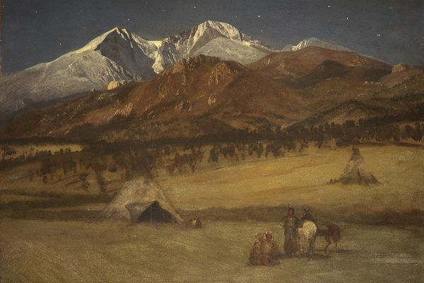 An Albert Bierstadt painting, among his works on the American West. (Pixabay)