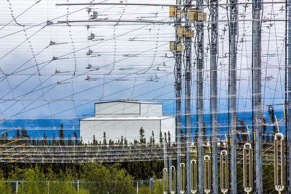 The antennas of the upper-atmosphere research station near Gakona owned by the University of Alaska. (Todd Paris / UAF)