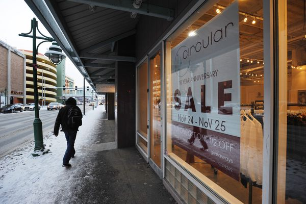 Circular Boutique owner Kim Stalder is having a 10th anniversary sale on Black Friday and Small Business Saturday. Stalder opened her store that sells designer clothes, jewelry, and gifts on Black Friday in 2007. Wednesday, Nov. 22, 2017. (Bill Roth / ADN)