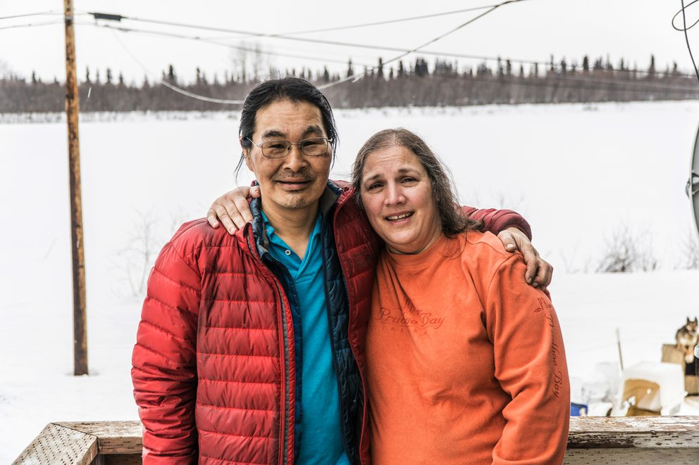 Harry and Kim Douglas live in Harry's childhood home in Ambler, overlooking the Kobuk River. (Seth Adams)