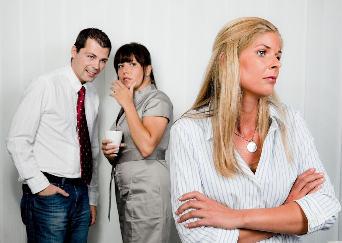 My co-workers think I slept with my boss to earn my salary. I didn't, but I'm still thinking of quitting. (Thinkstock)