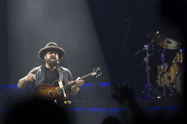 The Zac Brown Band performs Friday, August 11, 2017, at the Alaska Airlines Center in Anchorage. The band will also be playing August 12. (Rugile Kaladyte / Alaska Dispatch News)