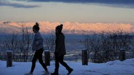 Anchorage could see a mix of snow and rain Monday, as strong winds hit Turnagain Arm and Kenai Peninsula
