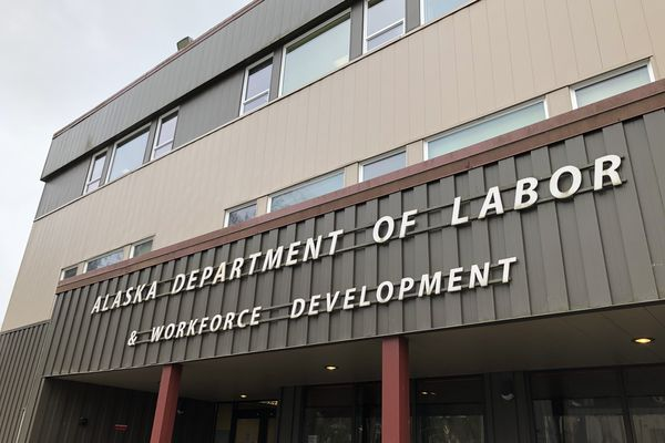 The offices of the Alaska Department of Labor are seen Thursday, April 9, 2020 in Juneau. (James Brooks / ADN)