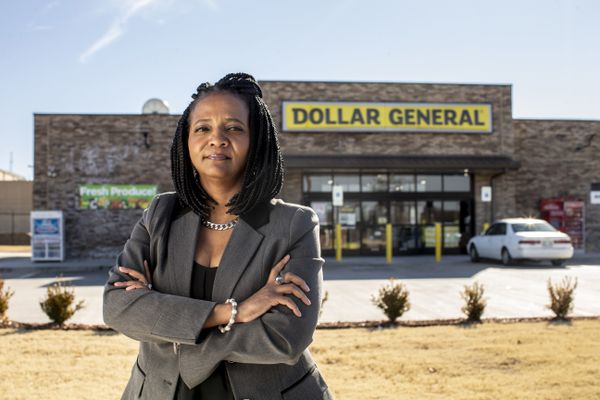 Vanessa Hall-Harper, who ushered in restrictions on new dollar store openings in North Tulsa, said she's not against the stores altogether. But their unstoppable rise, she said, keeps grocers from opening. MUST CREDIT: Photo by Shane Bevel for The Washington Post