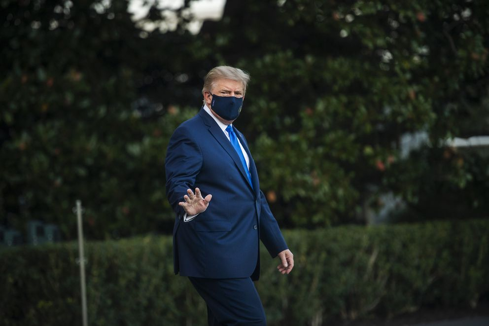 Aides say President Donald Trump was much sicker than they acknowledged when he was transported to Walter Reed Military Medical Center on Oct. 2, 2020. (Photo for The Washington Post by Amanda Voisard)