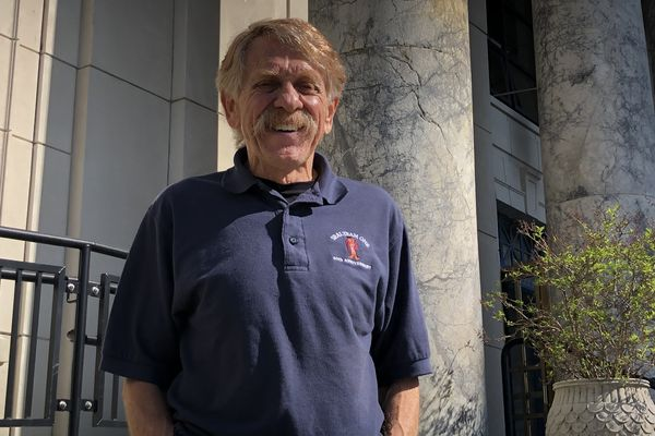Rep. Laddie Shaw, R-Anchorage, is seen in front of the Alaska State Capitol on Wednesday, May 22, 2019. (James Brooks / ADN)